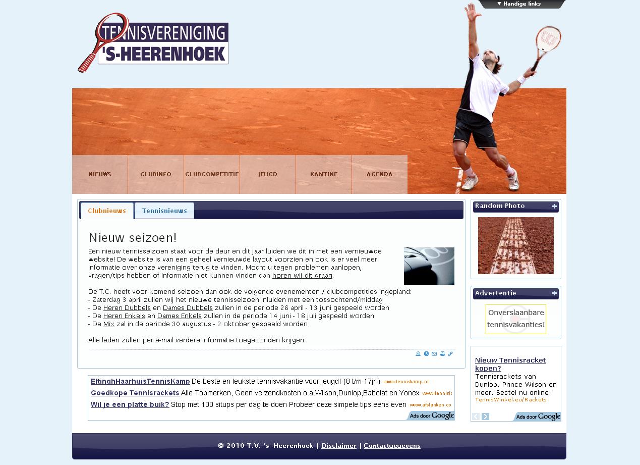 Website van T.V. 's-Heerenhoek